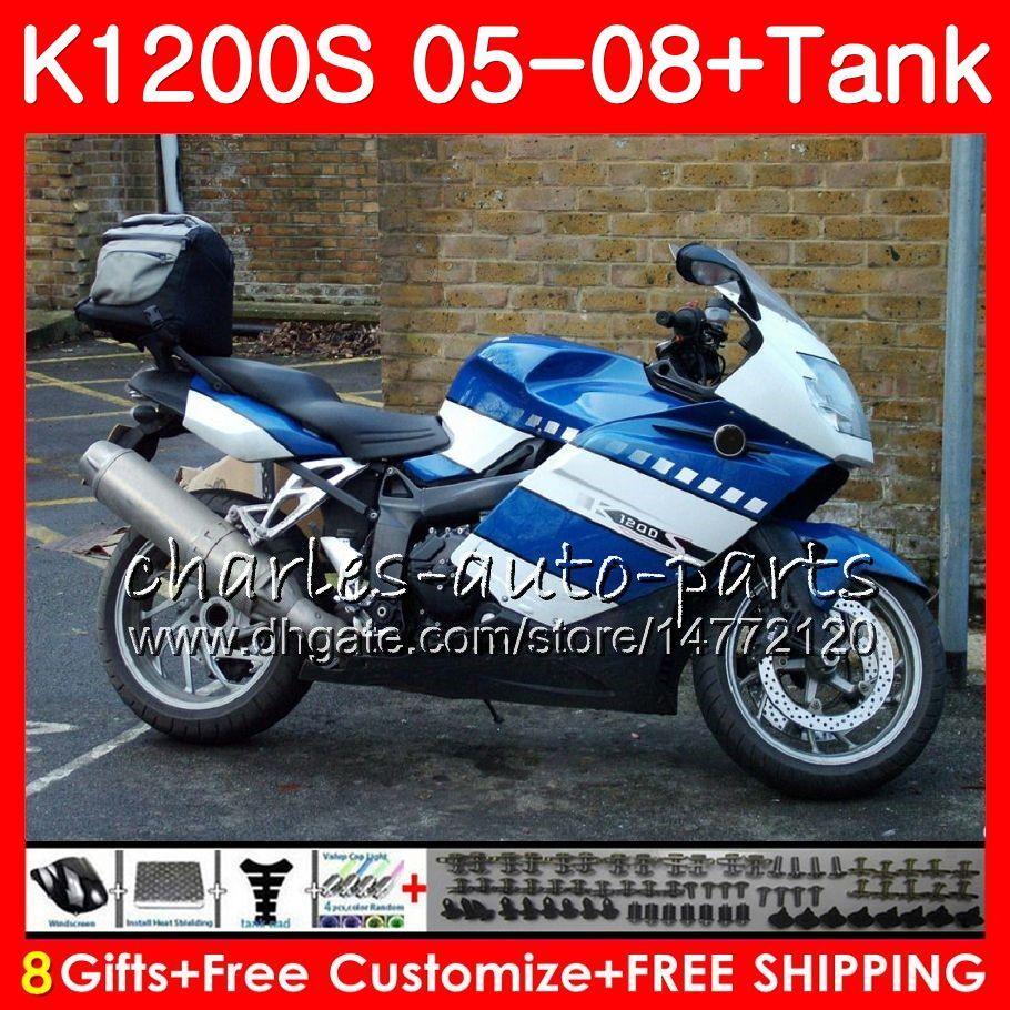 Ciało dla OEM K1200 S K 1200 S 05 10 Zdjęcie Blue K1200S 05 06 07 08 09 10 103HM.4 K-1200S K 12002 2005 2006 2007 2008 2000 2010 2010