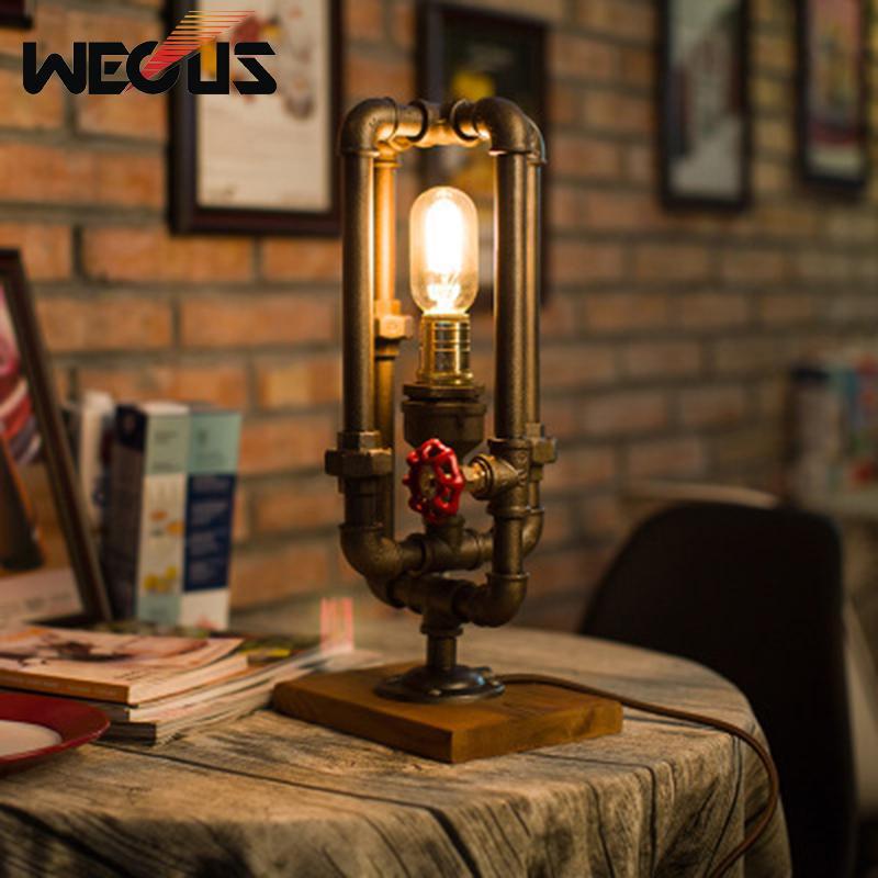 Acheter Pipe A Eau Industrielle Americaine Style Lampe De Table