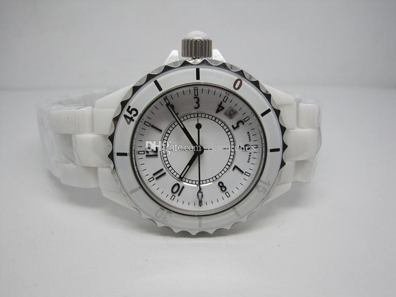 Kadınların beyaz seramik izle C02 için sıcak satış yeni moda bayan stil izlemek kuvars hareketi Kadın saatler