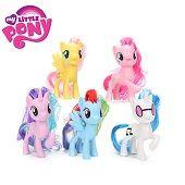 12 штук / комплект My little Pony Action Figures Мультфильм Фильм Статуэтки принцессы Целестия Луна Дети Кукла Игрушка Подарки торт верхний декор