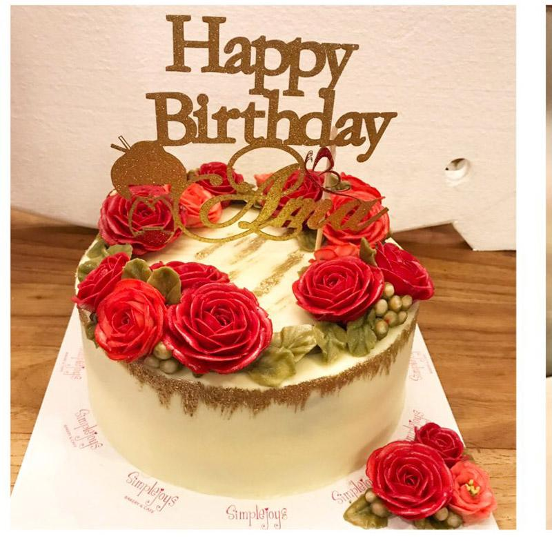 Birthday Party Cake Glitter Letter Plugin can custom cut shape