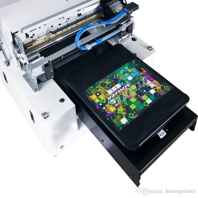 A3 Size White Ink Black T-shirts DTG Printers digital cheap garment printer