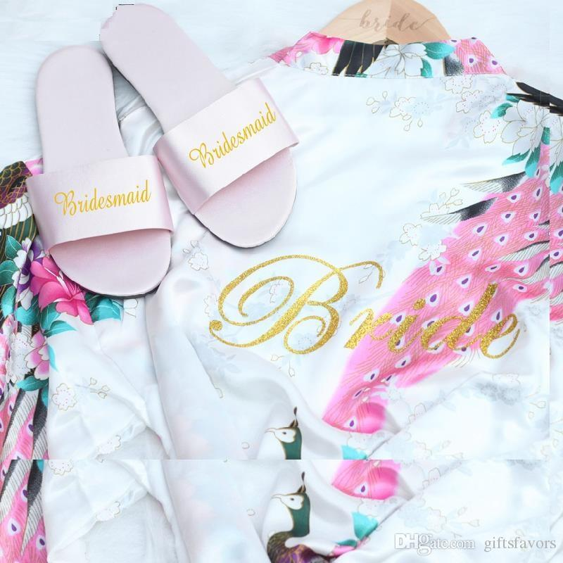 Bridesmaid Gifts Wedding Satin Slippers