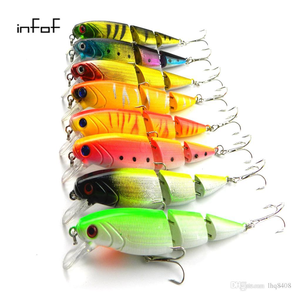 INFOF 8 pcs 14 g / 0,49 oz Isca Artificielle articulé leurre de pêche leurre Crankbait dur appâts de pêche Swimbait Pesca leurres pour bass brochet