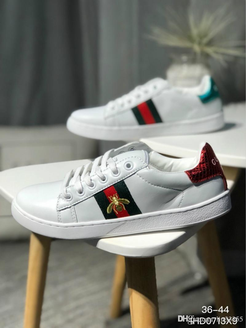 07574738f 2018 Hot Bees Primeknit Men Women⠀gucci Running Shoes Og Classic Triple  Black White Beige Oreo Athletics Sports Trainer Sneakers 36 44 Ladies Running  Shoes ...