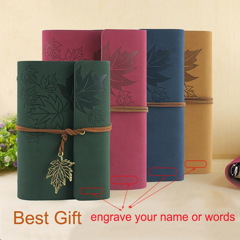RuiZe Hot sale leather journal travelers notebook vintage kraft paper sketchbook diary A6 A7 small not can be engraved
