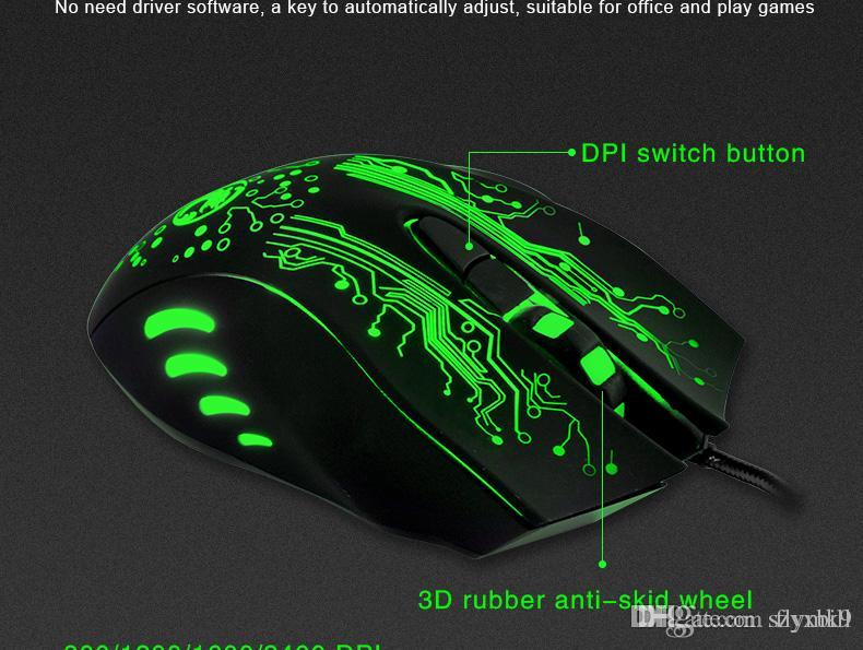 2019 New Mouse ESTONE X9 5000DPI Colorful Gaming Mouse 6 Buttons LOL  Optical USB Wired Computer &Professional Mouse Gamer From Flymk9, &Price
