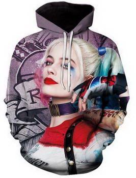 New Fashion Coppie Uomini Donne Unisex Suicide Squad 3D Stampa Felpe con cappuccio Felpa Giacche Pullover Top Q97