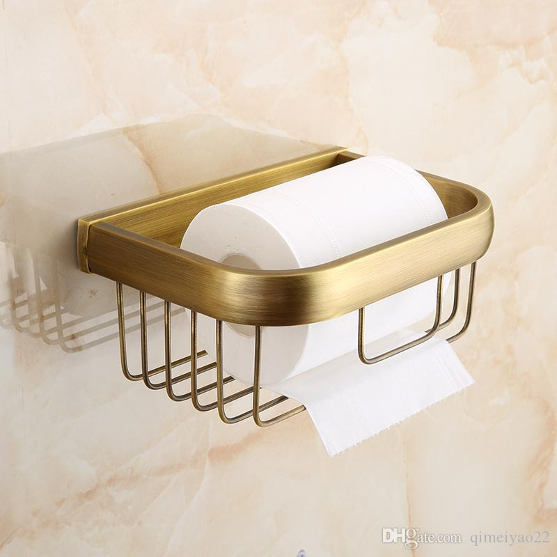 2020 Toilet Paper Holder Bathroom Accessories Polished Gold Color Brass Tissue Basket Wall Mounted Gold Wc Paper Holder Bathroom Shower Storage From Qimeiyao22 26 24 Dhgate Com