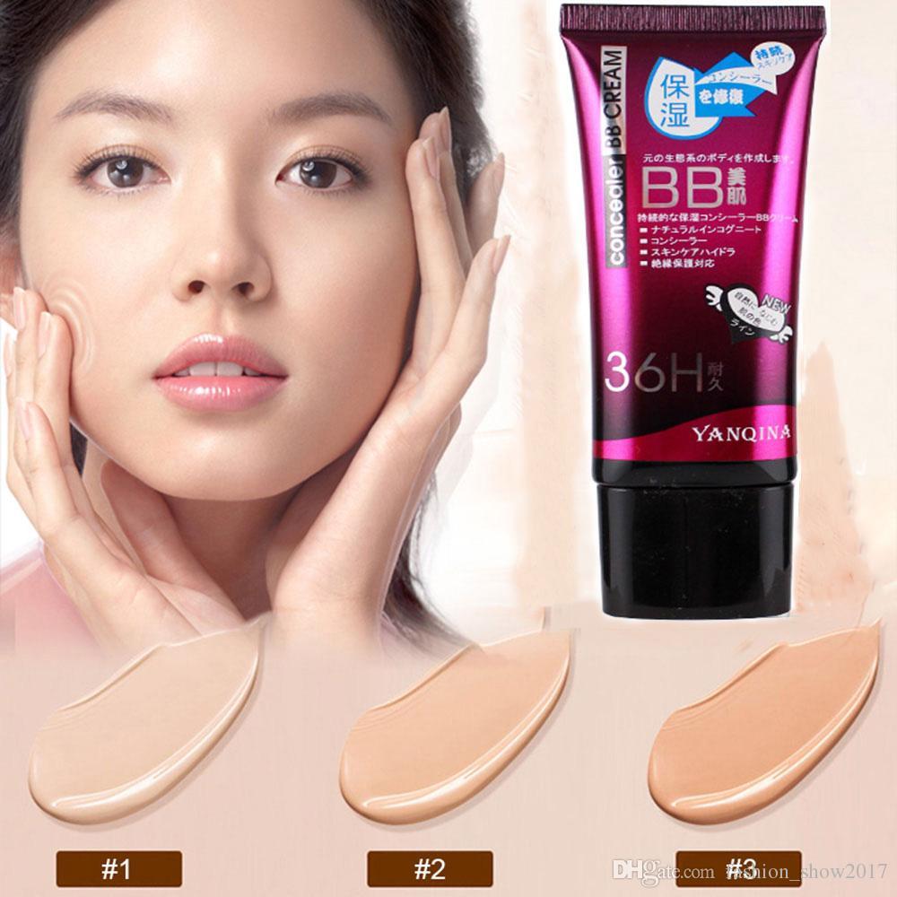 YANQINA Yeni 3 Renkler Doğal Kusursuz BB Krem Parlatıcı Nemlendirici Kapatıcı Çıplak Vakıf Makyaj Yüz Güzellik Araçları