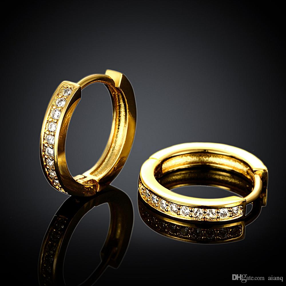 2018 Free Shopping 18K Gold Plating Earrings for women Fashion High Quality Zircon Earrings New Fashion Jewelry