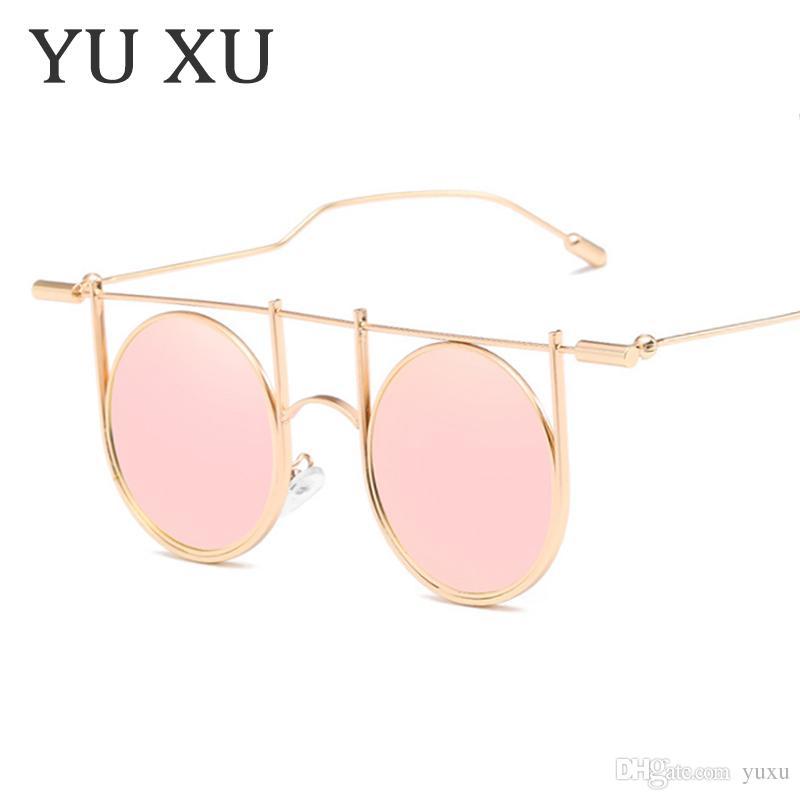 Yeni Steampunk Güneş Yuvarlak Shades Erkekler Kadınlar Marka Tasarımcısı Gözlük Moda Yaz Stil Vintage Gözlük UV400 H06