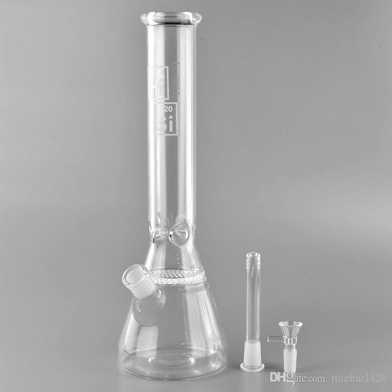 Hi Si Glass Beaker Base Water Pipe Factory price bongs water pipe water pipe bongs for Tobacco smoking with Diffused Downstem