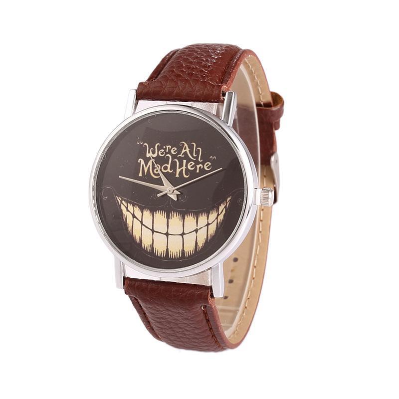 شخصية جديدة خلاقة مضحك فم كبير مشاهدة عارضة الرجال والنساء كوارتز الأزياء والمجوهرات ساعة