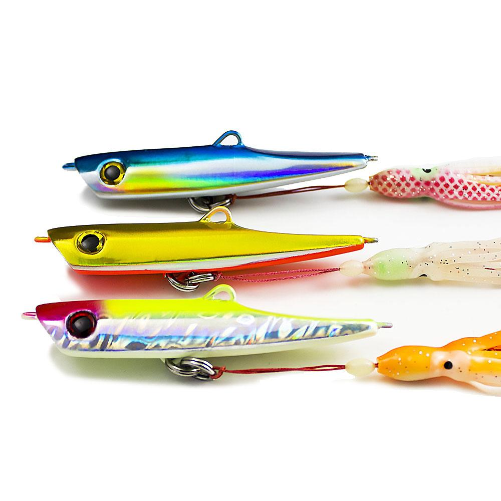 Outdoors 3Pcs 150G 5.3Oz Japan Inchiku Jigs with Octopus Assist Hook Squid Jigging Saltwater Bottom Ship Snapper Fishing Lure Baits Tackles