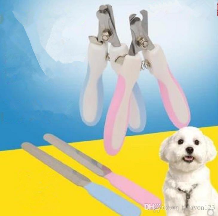 Pet Dog Cat Nail Scissors Lixa de Unhas 2 Pçs / set Filhote de Cachorro Do Gato Do Prego Cortador de Tosquiadepois de Limpeza Para Animais de Estimação Ferramentas de Higiene Segurança de Cuidados a824