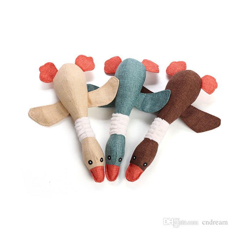 Forniture Pet Toys Wild Goose Giocattoli Sounder Uccello mastica giocattolo Animali Cani Gatti giocattolo cane di animale domestico trasporto di goccia