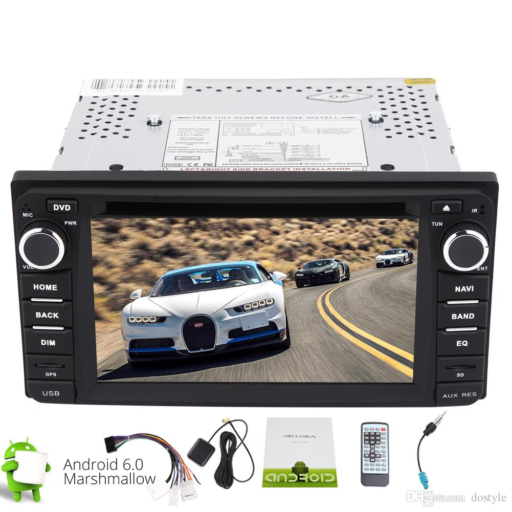 Android 6.0 Stereo in Dash Double 2din GPS Car DVD Player Quad-core GPS Navigation Bluetooth Car Radio Stereo Wifi FM/AM/RDS