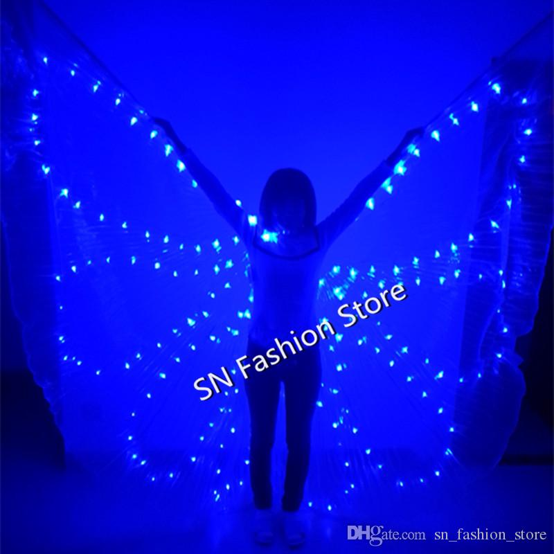 PF006 Colorful LED luminous cloak /light-up costume/Ballroom lighted wing butterfly dress Belly dance clothes bar party event performance dj