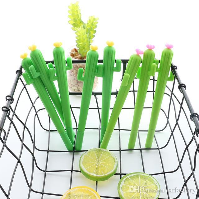 1 Stücke Neue Nette Kreative kawaii Kaktus Gel Stift Sukkulenten Schreibwaren Kinder Geschenk Schule Schreibwaren Stift