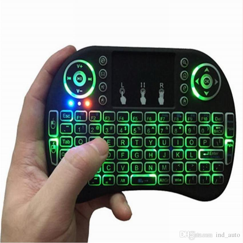 Mini Game Keyboard 2.4G Wireless Fly Air Mouse With Backlight Touchpad 3 Colours Remote Game Controlers For MXQ pro X96 T95M M8S 4K TV Box