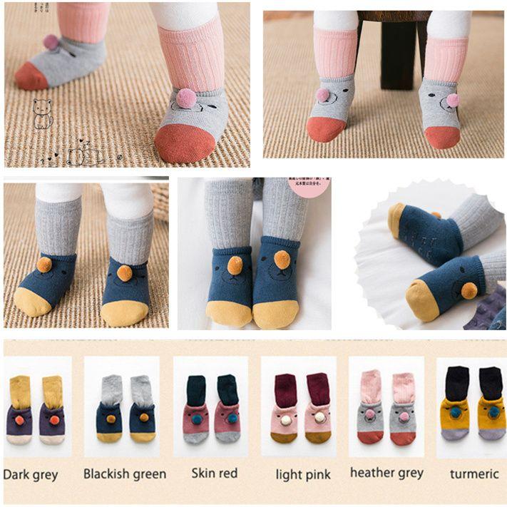 Newborn Infant Socks Newborn Cotton Boy Girl Cute Cartoon Toddler Anti-slip Sock