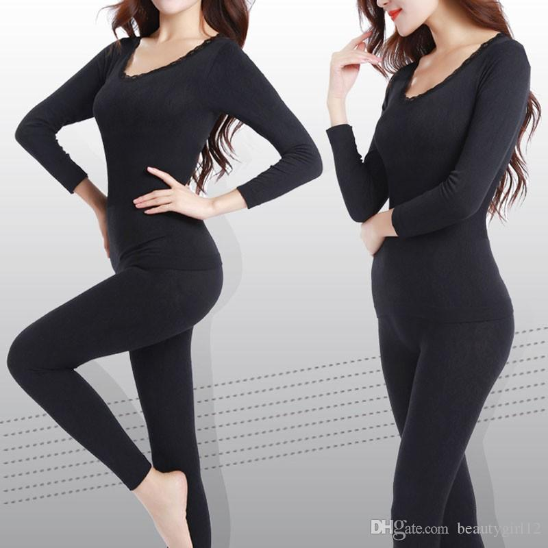 New Long Johns for Women Fit Size M-XXL Winter Thermal Underwear Suit Thick Modal Ladies Thermal Underwear Female Clothing