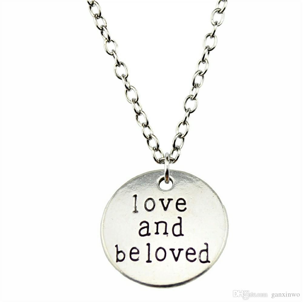 WYSIWYG 5 шт. металлические цепи ожерелья подвески старинные ожерелье ручной работы Любовь и любимые 20 мм N2-B10383