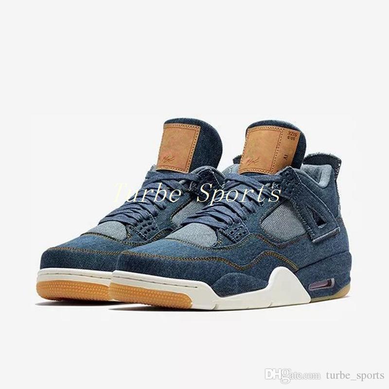 carga Aptitud escritura  Compre Con La Caja Original Levi's X Nike Air Jordan 4 Denim LS Jeans  Travis All Black Basketball Shoes Men 4s Blue Jeans Sneakers AAA Calidad  Tamaño 7 13 A 47,17 € Del Turbe_sports | DHgate.Com
