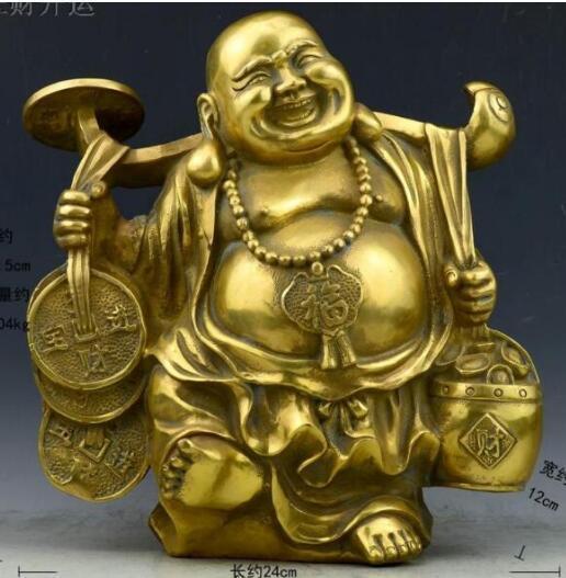 WBY 1024 - светлая чистая латунная медь, украшения Будды Maitreya, декоративные ремесленничества, украшение