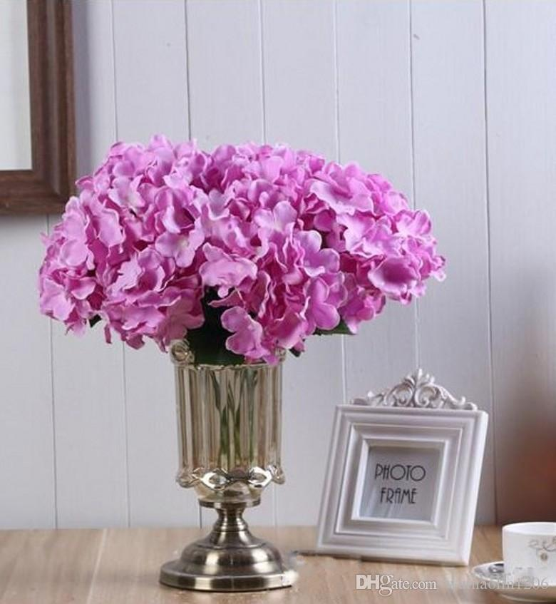 2020 Silk Artificial Hydrangea Bouquet 5 Big Heads Hydrangea