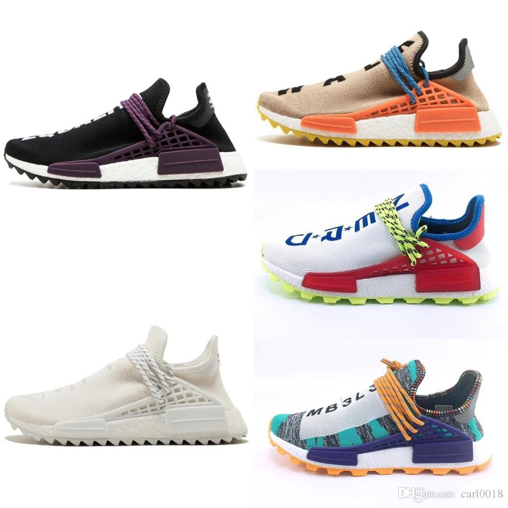 2020 2018 Human RACE HU Nmd Pharrell Williams Trail Mens Designer Sports Neutral Spikes Running Shoes For Men Sneakers Women Casual Trainers Shoe From