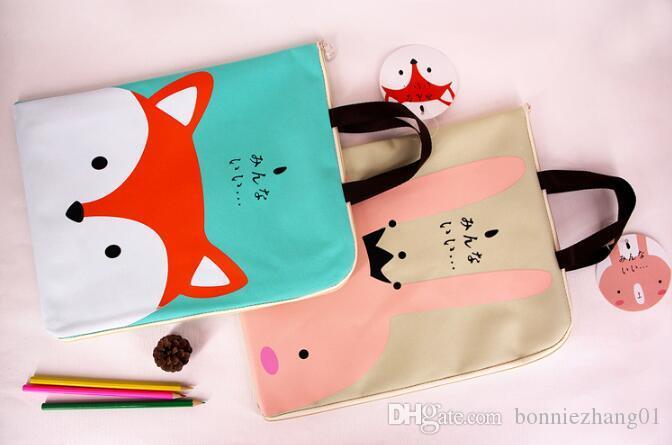 Student Handbags Oxford Canvas Tote bags Waterproof Reusable School Cute Folder Bag Kid Eco Gift