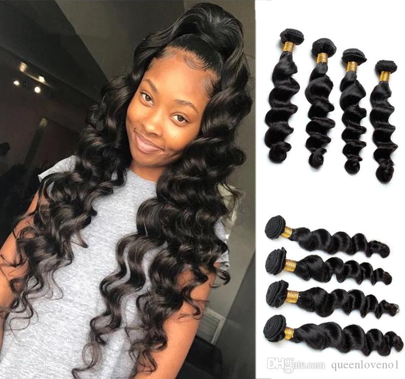 Brazilian Loose Deep Wave Virgin Hair Weave Remy Human Hair Extensions Natural Color No Shedding Tangle Free Can Be Dyed Remy Hair Weave For Cheap