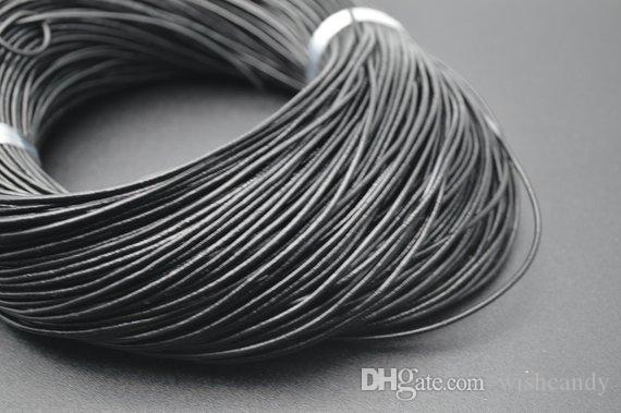 Grey Real Round Leather 1mm 2mm Cord Necklace Jewellery Rope String Thread UK