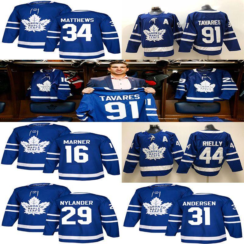 finest selection da882 8c27b Toronto Maple Leafs Jersey 91 John Tavares Hockey Jerseys 97 Connor McDavid  men 34 Auston Matthew 16 Mitchell Marner Winnipeg Jets 29 laine