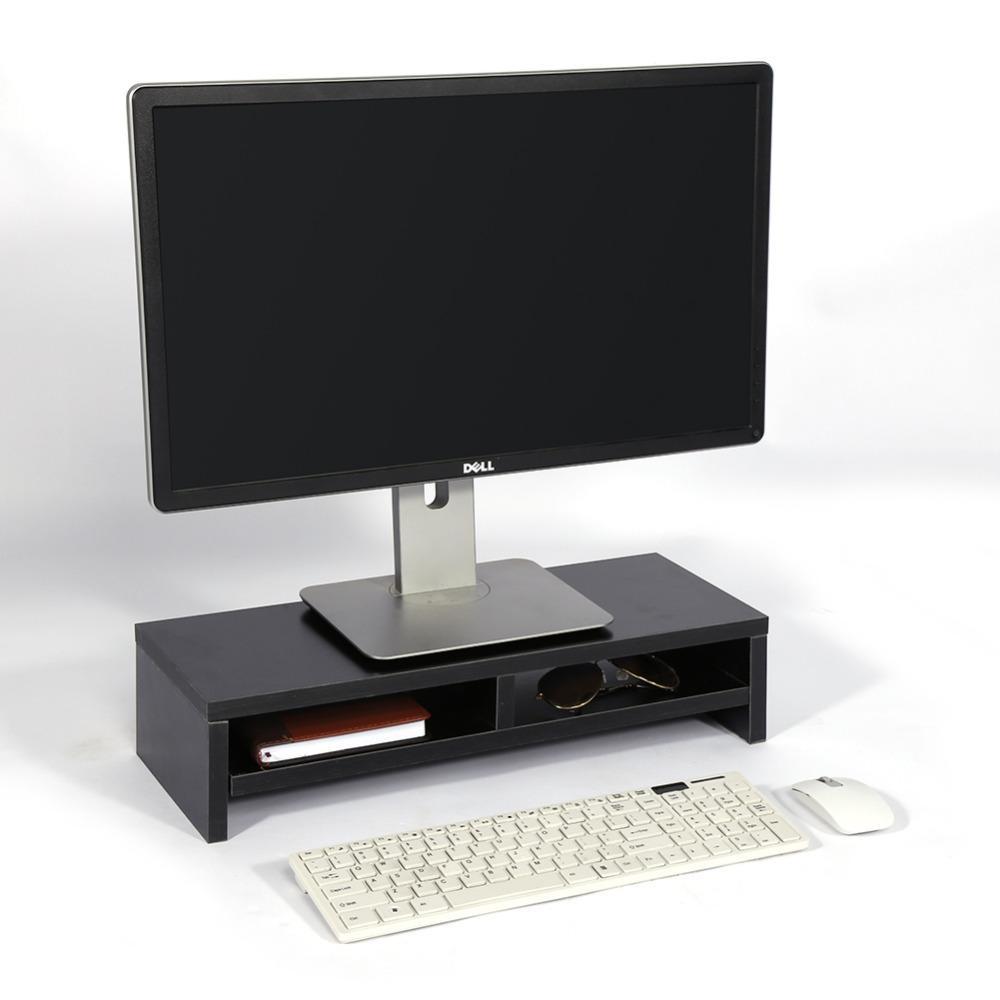 Freeshipping Holz Desktop Monitor Stand LCD TV Laptop Rack Computer Bildschirm Riser Regal Schreibtisch Monitor Stand Aufbewahrungsbox Fall