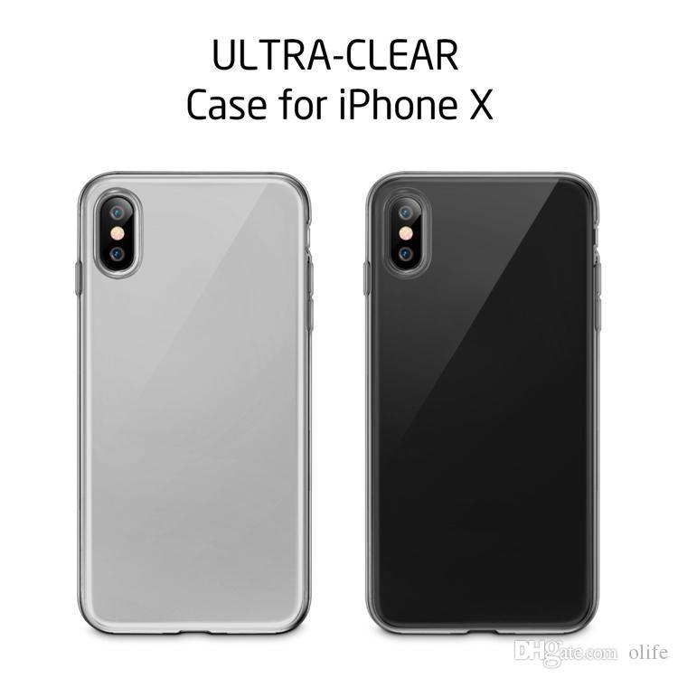 Ultryin Transparent Soft TPU TPU Case Gel Crystal Housse arrière pour iPhone 12 Mini 11 PRO X XS MAX XR 8 7 6 Plus DHL