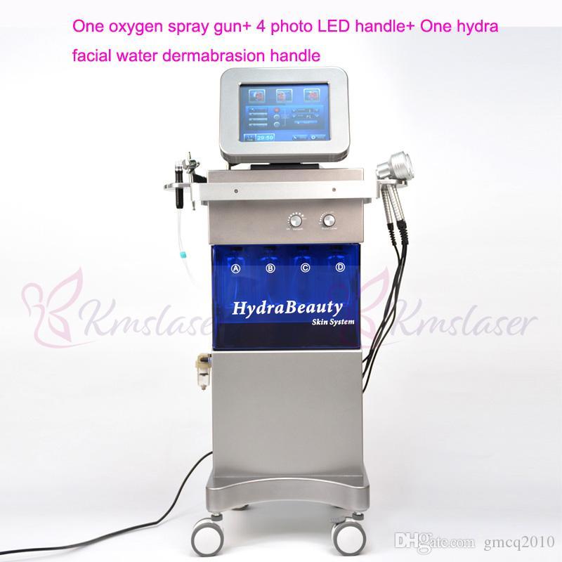 7 W 1 Oxygen Jet Peel Maszyna Spa16 Hydra Facial Spray Gun Hydro Water Dermabrazja LED Light Therapy Sploty Sprzęt kosmetyczny
