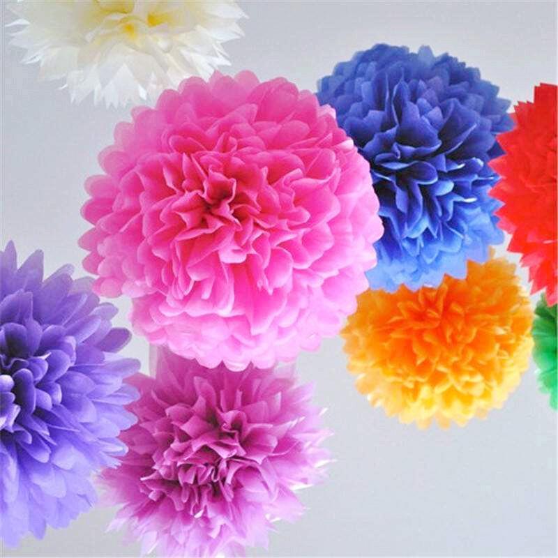 DIY Paper Flowers Ball Wedding Home Birthday Party Car Decoration