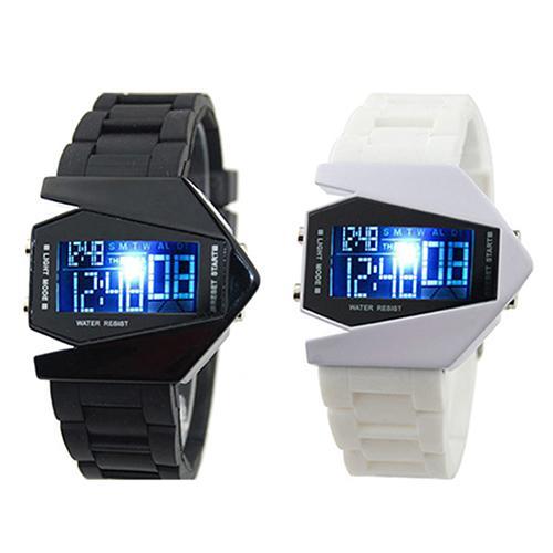 LED Display watches Digital men sports military Oversized watch Back Light women Wristwatches Novelty Sale Electronics watch