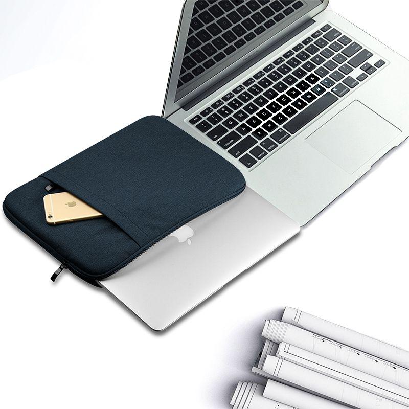 Jean Denim Estuche protector del bolso de la manga de aire de Macbook Pro Retina 11 13 15 pulgadas PC portátil universal cremallera bolsas