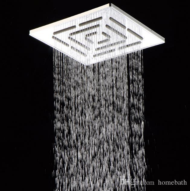 Neuer Entwurfs-Messingchrom-Quadrat-Duschkopf 8-Zoll-obenliegendes Badezimmer-Dusche-Einzelkopf-Regendusche