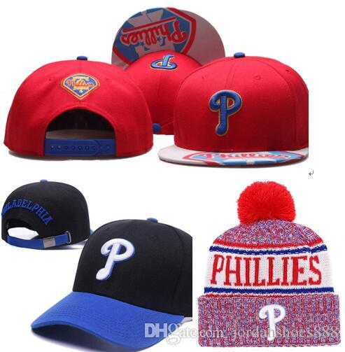 2019 Phillies Şapka Snapback kap Şampiyonlar Phillies bere Tüm Takımlar Erkek kadın Örme Beanies Yün Şapka Örgü Bonnet Beanie Gorro Kış Kap