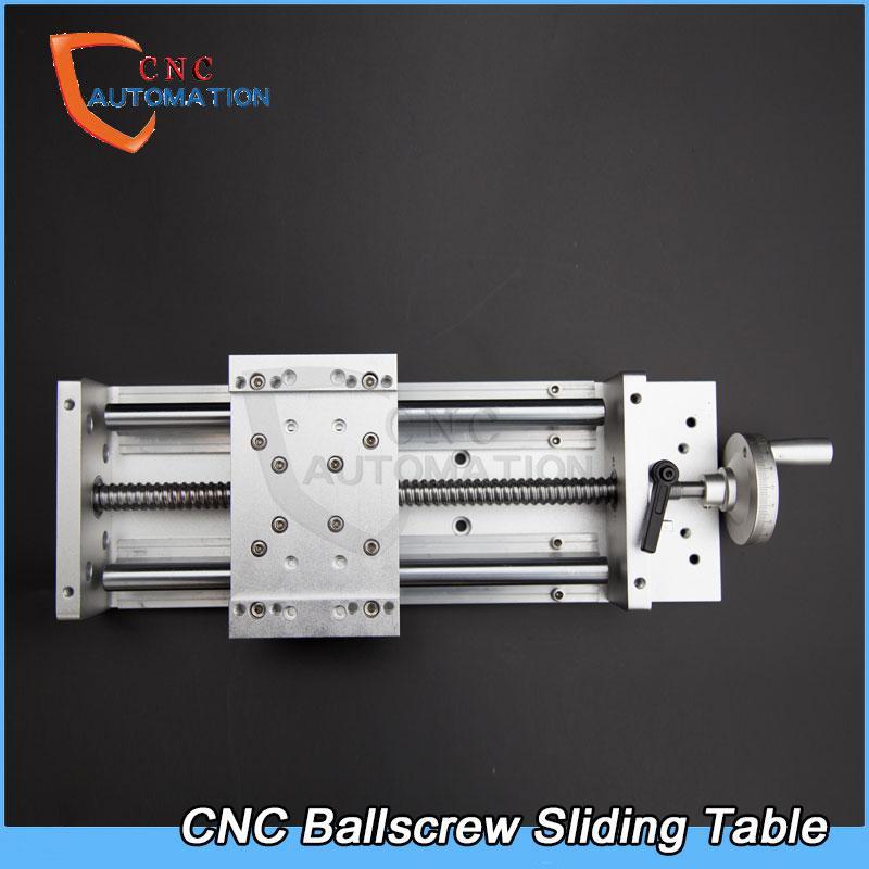 CNC Manual XYZ Axis Sliding Table L200mm Linear Rail Stage SFU1605 BallScrew