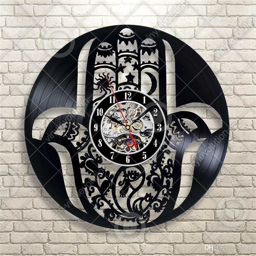 وشم الفينيل سجل ساعة الحائط الحديثة ديكور المنزل شخصية غرفة المعيشة الديكور الإبداعية هالوين هدايا عيد الميلاد للرجال والنساء