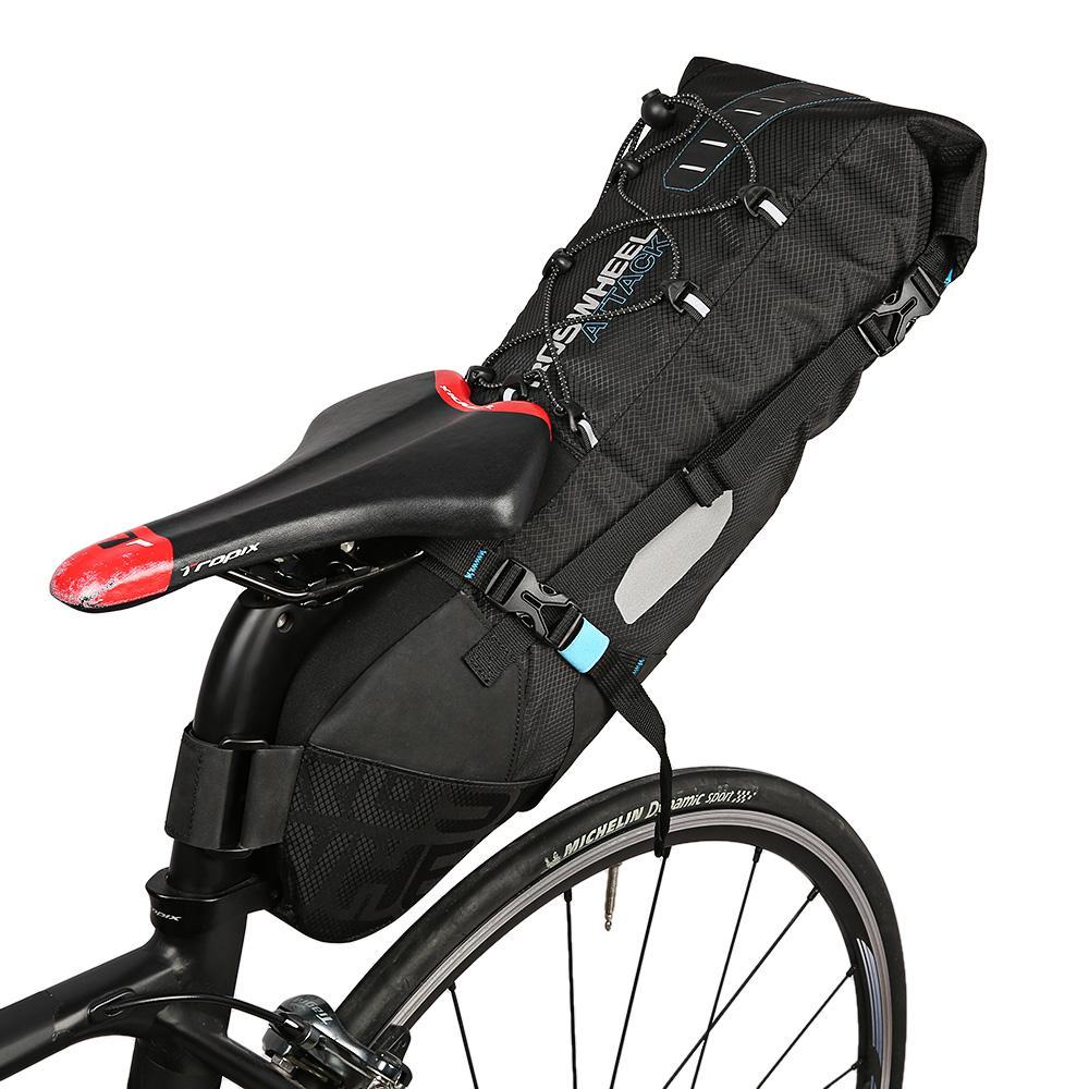 ROSWHEEL 131372 Water-Resistant 10L Bike Tail Bag Bicycle Rear Pack Saddle Bag Cycling Mountain Bike Back Seat Rear