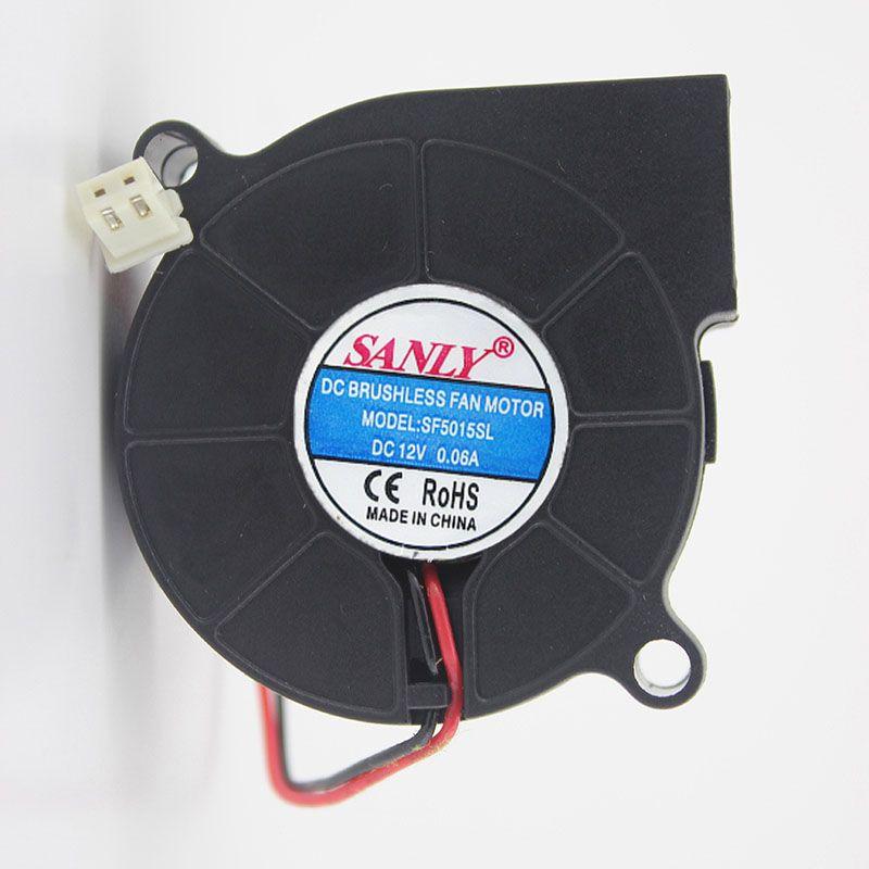 Envío gratis SANLY SF5015SL 12V 0.06A servidor ventilador de refrigeración 5 cm 5015 50x50x15mm ventilador