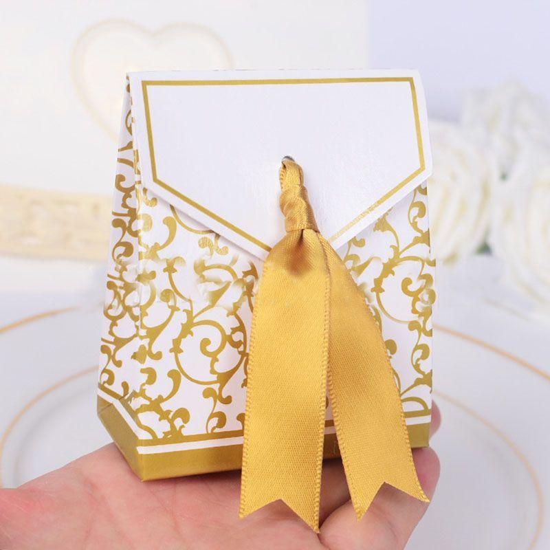 Hediye Wrap Düğün Iyilik Favor Çanta Tatlı Kek Hediye Şeker Wrap Kağıt Kutuları Çanta Yıldönümü Parti Doğum Günü Bebek Kutusu Ücretsiz DHL WX9-1045