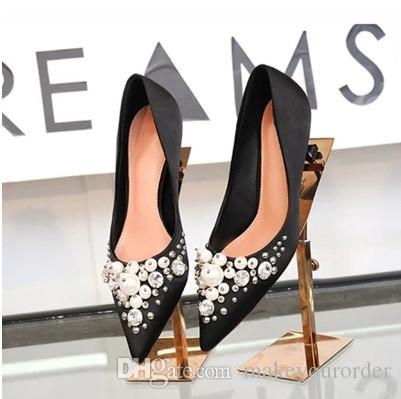 Pointed Toe Dress valentine high heel Comfortable Designer Wedding Bridal Silk eden Heels Shoes for Wedding Evening Party 488